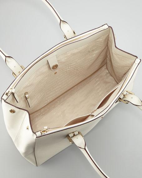 charlotte street reena tote bag, cream
