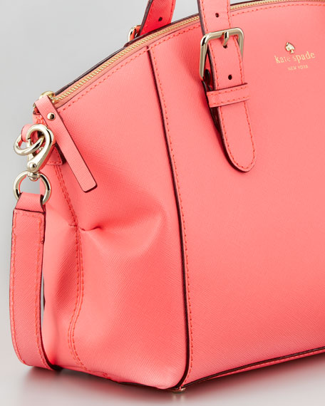 charlotte street small sloan tote bag, coral