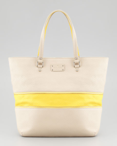 grove court michelle tote bag, seed/yellow