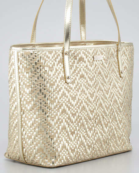 bayside park small coal tote, pale gold