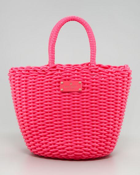 kate spade new york beach club beth basket tote bag, pink