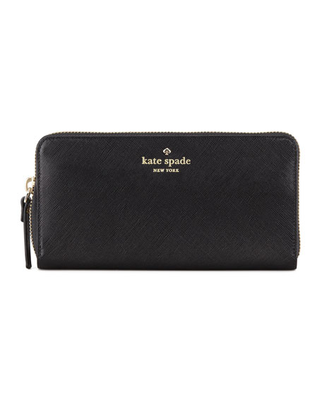 mikas pond lacey continental wallet, black