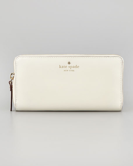 mikas pond lacey continental wallet, cream