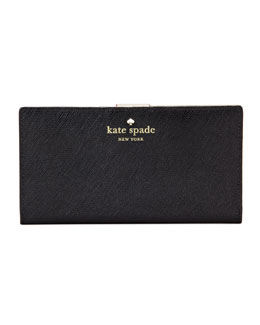 kate spade new york mikas pond stacy continental wallet, black