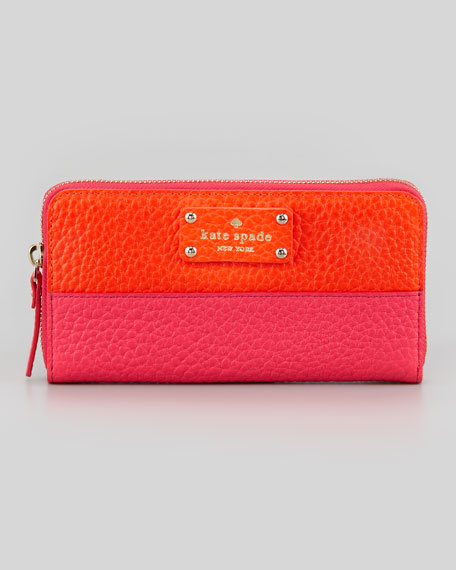 grove ct lacey continental wallet, orange/pink