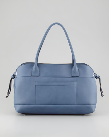 Matte Calfskin East-West Bag, Navy