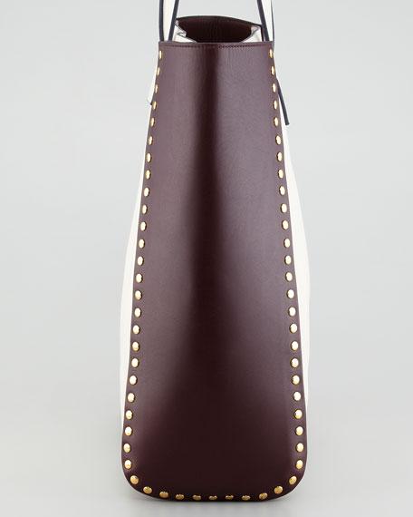 Bi-Color Studded Tote Bag