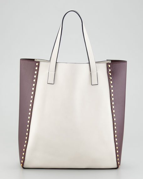 Bi-Color Studded Tote Bag