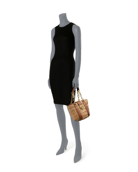 Medium Deneuve Straw Tote