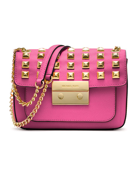 Small Sloan Studded Shoulder Bag