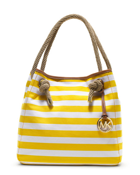 Large Marina Striped Grab Bag