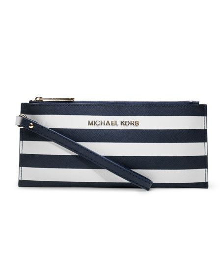 Small Jet Set Striped Zip Pouch