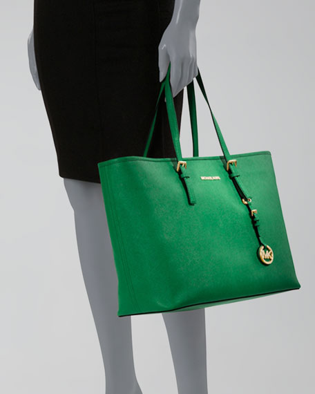 Jet Set Multifunction Saffiano Tote