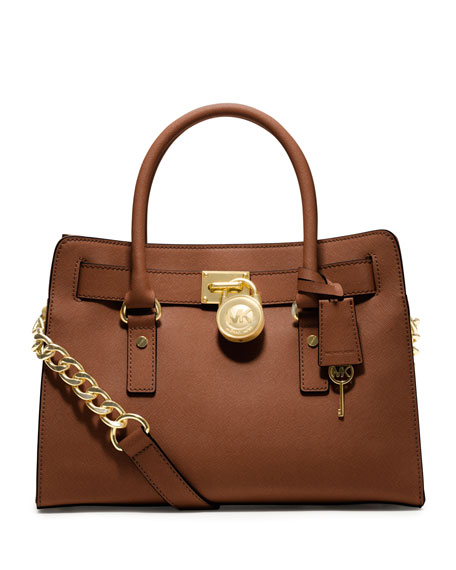 Hamilton Saffiano Satchel Bag, Luggage
