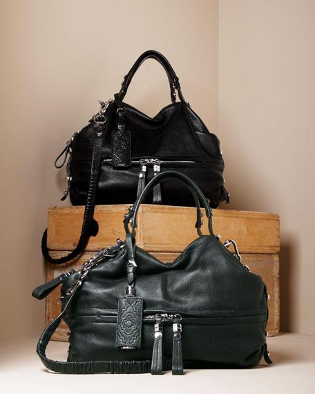 Holly Satchel Bag, Green