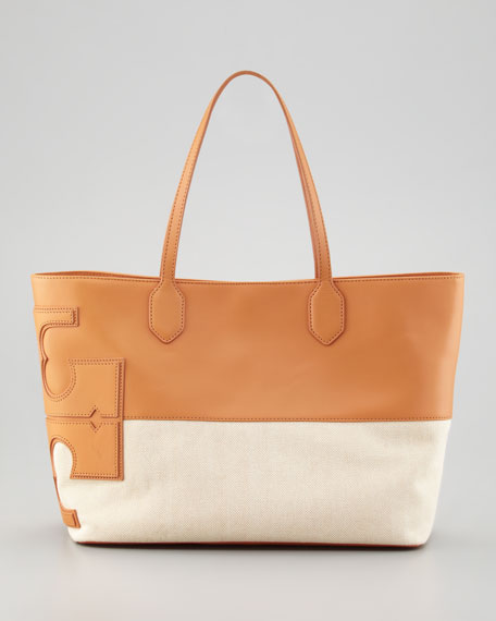 Stacked Two-Tone Tote Bag