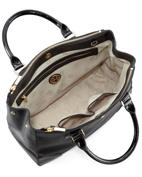 Robinson Double-Zip Tote Bag, Black