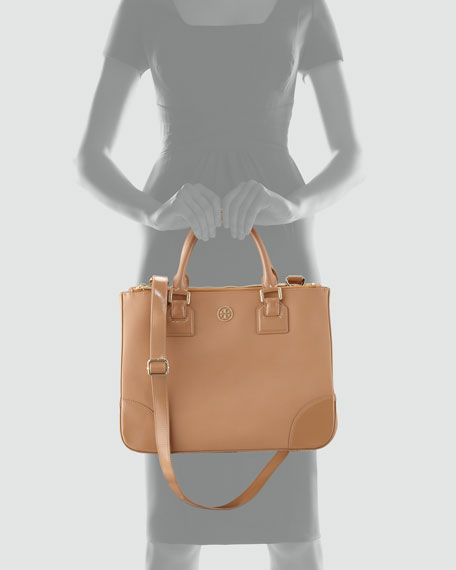 Robinson Double-Zip Tote Bag, Sand