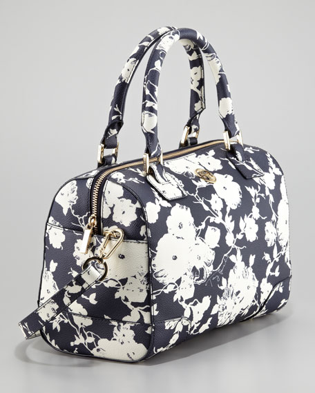Robinson Printed Middy Satchel Bag, Navy