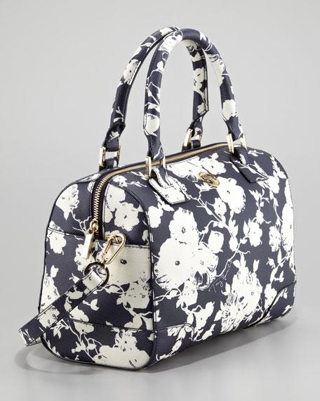 Robinson Printed Middy Satchel Bag, Navy