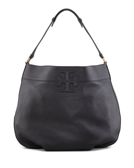 Stacked T Hobo Bag, Black