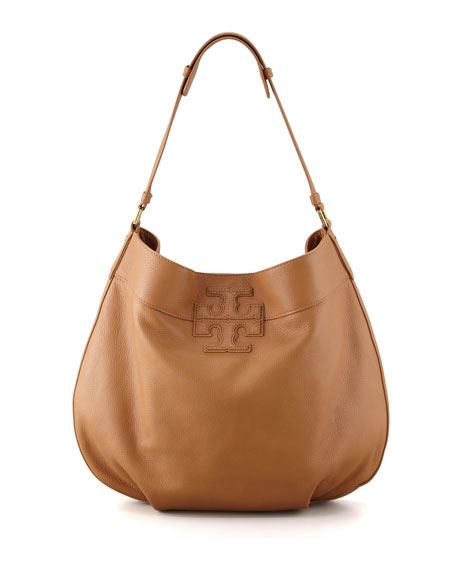 Stacked T Hobo Bag, Tan