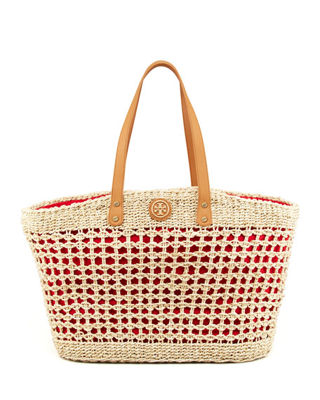 Megan Twisted Straw Tote Bag