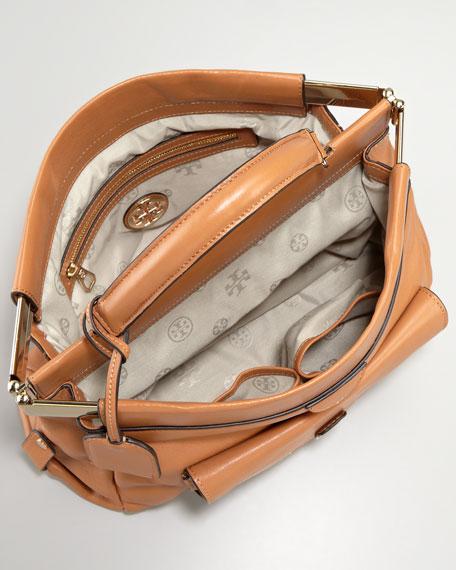 Priscilla Small Framed Satchel Bag, Tan