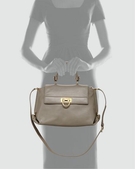 Sofia Satchel Bag, Light Gray