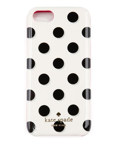 le pavillion polka-dot iPhone 5 case, black/white/pink