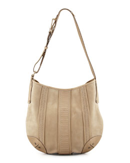 Belstaff Rowen Suede Hobo Bag, Tan