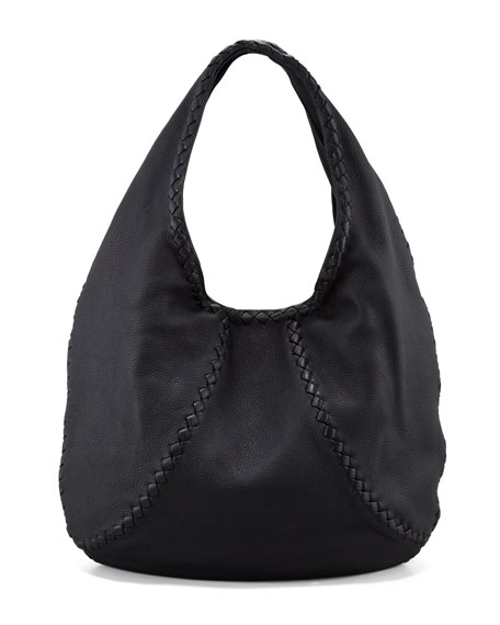 Bottega VenetaCervo Large Hobo Bag, Black