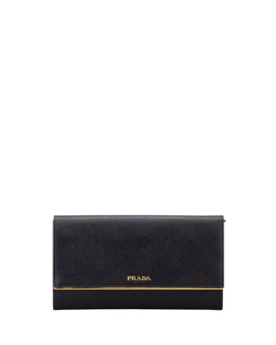Saffiano Clutch Wallet, Black (Nero)
