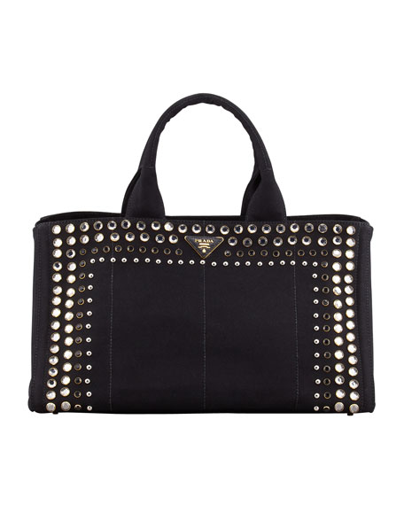 Studded Canvas Gardener's Tote Bag