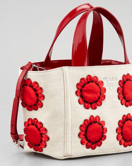 prada purses fake or real - Prada Mistollino Floral Basket Tote Bag