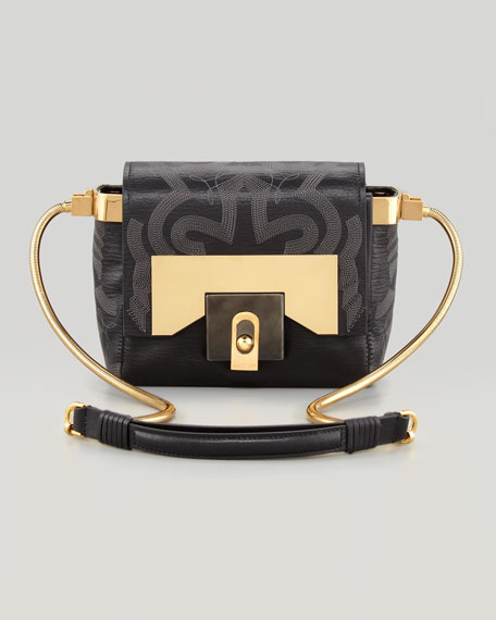 For Me Small Embroidered Crossbody Bag