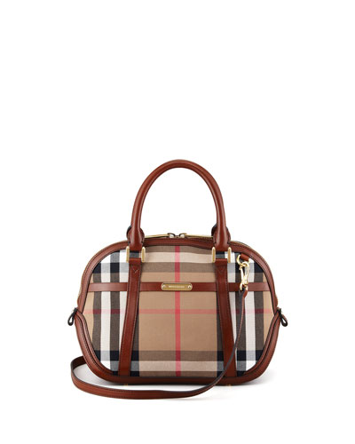 Burberry Check Small Dome Bag