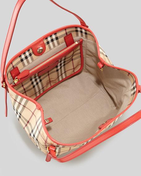 Haymarket Check PVC Tote Bag, Red