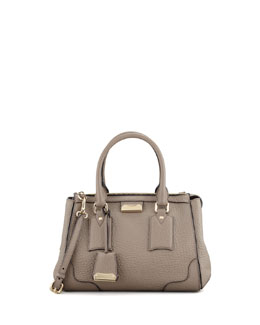 Burberry Small Padlock Satchel Bag, Pale Taupe Brown