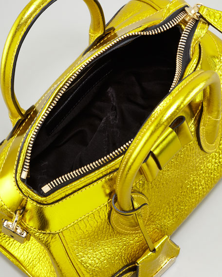 The Blaze Metallic Leather Satchel Bag