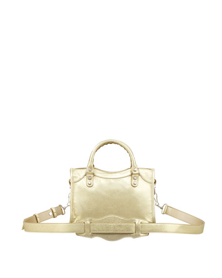 Classic Mini City Bag, Gold
