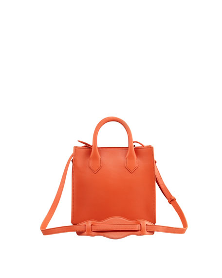 Padlock Mini Crossbody Bag, Light Orange