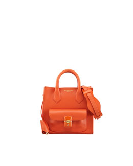Balenciaga Padlock Mini Crossbody Bag, Light Orange