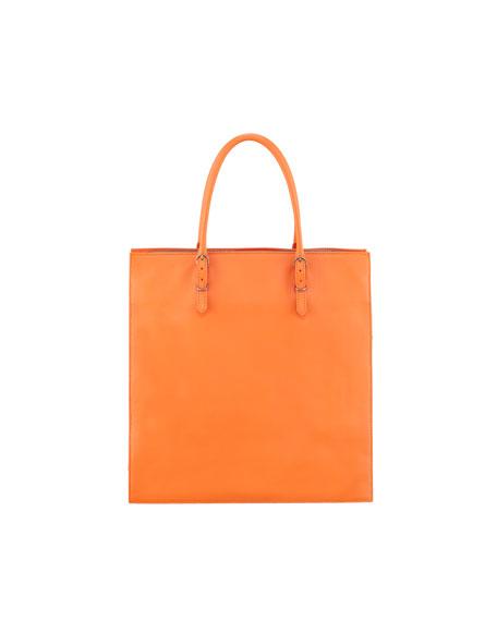 Papier Triple A5 Leather Tote Bag, Orange