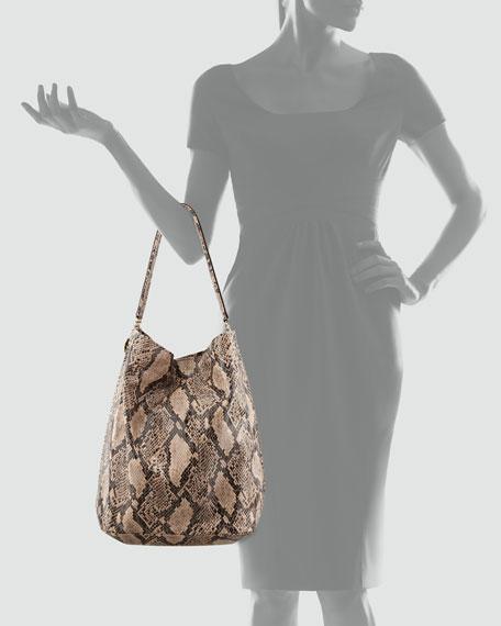 Stella McCartney Boo Faux-Python Hobo Bag, Nude