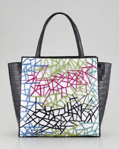 Cutout Pattern Crocodile Tote Bag