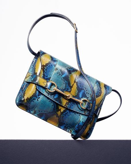 Bright Bit Python Shoulder Bag