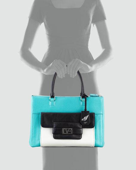 Eva Colorblock Tote Bag, Multicolor