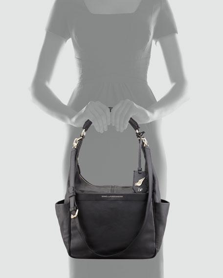Franco Leather Hobo Bag, Black