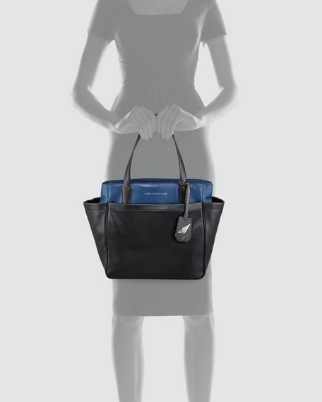 On-the-Go Metallic Tote Bag, Multi Colors